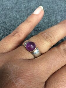 Beautiful Tiffany & Co Sterling silver 925 18k amethyst  Ring Size 6.5