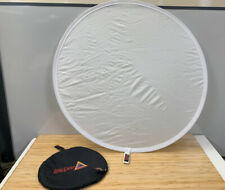 """Photoflex Litedisc 42"""" Circular Collapsable Disc Reflector, White / Translucant"""