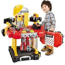 Kids Toy Power Workbench, Power Tool Bench Construction Set(110 Pieces)Boys/Girl