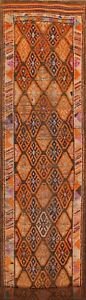 """Antique South-western Geometric 15 ft Moroccan Tribal Runner Rug 14' 9"""" x 2' 9"""""""
