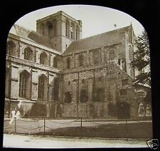 Glass Magic Lantern Slide WINCHESTER CATHEDRAL C1890 ENGLAND L13