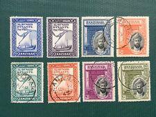 Zanzibar 1936 1944 Silver Jubilee Al Busaid Dynasty mint used stamp set