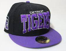 """NEW ERA Homme Noir et Violet 59 Fifty Detroit Tigers MLB Casquette De Baseball 7 1/4"""""""