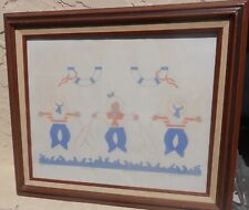 Vintage Novelty Child's Room Colored Lithograph Print Nautical Sailors Signed