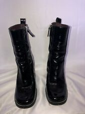 Topshop Patent Ankle Boots Size 4