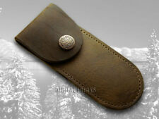 CASE XX Genuine Brown Soft Leather Pocket Knife Belt Sheath