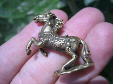 Brass Lucky Amulet Horse Statue Buddhist Blessing Thailand