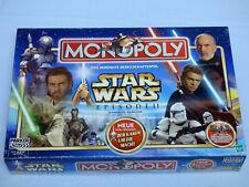 Star Wars Monopoly Episode II Sammler Ausgabe mit 8 Zinn Figuren Brettspiel TOP