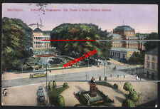 Wiesbaden-Curhaus-Denkmal-Strassenbahn-Kunstkarte-Feldpost-Darmstadt-Hessen-19