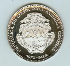 1970 Republic of Costa Rica Large 0.999 silver (1.73 oz) 25 Colones