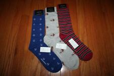 3 Pair NEW NWT Mens Banana Republic Casual Dress Socks Anchors Dogs Striped *3Z