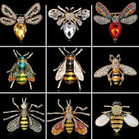 Fashion Crystal Rhinestone Bee Animal Insects Enamel Brooch Pin Women Jewelry