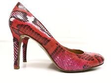 Nine West Shoes 5.5 Pink Snake Print Court High Heel Blogger Quirky £95