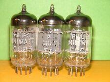 3 Philips Miniwatt 12AX7 ECC83 Long Plates Vacuum Tubes 1470|1775 1705|1645 1480