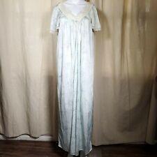 vintage 60s mint lace floral long nightgown