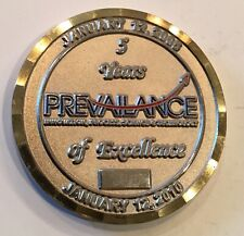 Prevailance Innovation Process Science Technology 5 Year Service #'ed Coin Medal