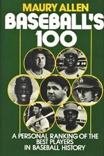 Baseball's 100 - The Best Players in Baseball History - HC w/DJ 1982 - NEAR MINT