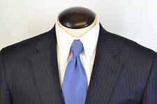 Jos A Bank Gordon Signature Gold Navy Blue Pinstriped 100% Wool Suit Sz 41R