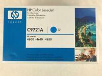 HP C9721A Cyan Toner Cartridge NEW Factory Sealed 4600 4610 4650 (641A)