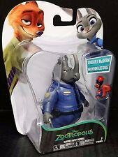 Disney Zootropolis McHORN & SAFETY SQUIRREL Poseable figures. New!