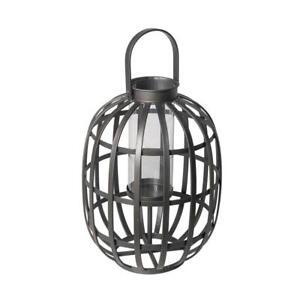 Hampton Bay 24.8 in. Small Outdoor Patio Metal Lantern
