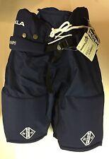 Ice Hockey Pant Sr Navy Tackla Model 851 w/leg zips: Sizes: S or M