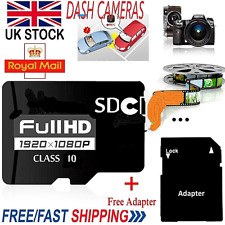 32GB Class10 Micro SD Card SDHC + Adapter For Phones Tablets Camera Sat Nav