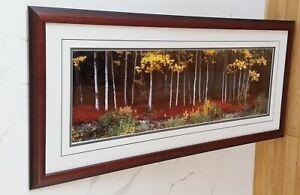 Thomas MANGELSEN picture Ltd Among the Aspens EC framed rare art Alaska Denali