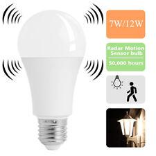 Sensor de movimiento infrarrojo pasivo ambiental E27 7/12W LED Bombilla Luz Lámpara práctica ph de globo