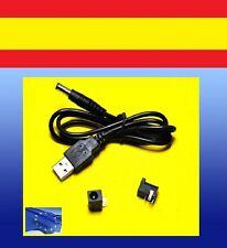 CABLE adaptador USB a CORRIENTE 5.5X2.1mm panel DC CC power line jack ARDUINO