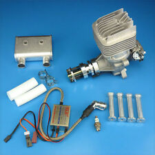 DLE-55RA 55CC Rear Exhaust Gasoline Engine w/ Ignition & Muffler For RC Airplane