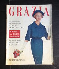 """""""Grazia"""" 22 marzo 1959 rivista di moda e attualità"""