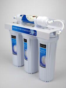Depuratore purificatore acqua rubinetto potabile domestico casa 4 filtri stadi