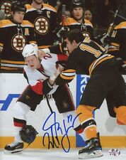 Milan Lucic Boston Bruins Signed Autographed Fight Punch Chris Neil 8x10