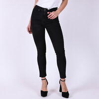 Levi's 721 High Rise Skinny Schwarz Damen Jeans DE 40 / US W32 L32