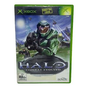 Halo: Combat Evolved for Microsoft Xbox - Complete w Manual - Tested & Working