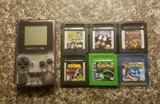 Clear Nintendo Game Boy Gameboy Color With Pokemon Games + More!
