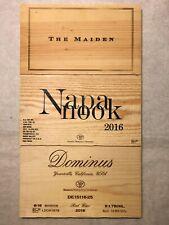 3 NAPA VALLEY CALIFORNIA WOOD WINE PANELS Crate Box Side 5/20