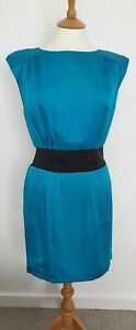 M&S LIMITED COLLECTION - TEAL SHIFT DRESS - SIZE 10 - EXCELLENT CONDITION