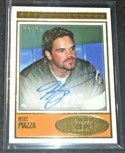 2018 TOPPS BROOKLYN COLLECTION MIKE PIAZZA AUTO #D/25 SIGNED AUTOGRAPH NY METS