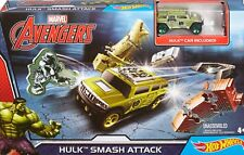 Hot Wheels Marvel Avengers HULK SMASH ATTACK Set - Hulk Car Included DKT29