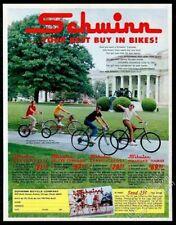 1969 Schwinn Orange Krate Typhoon Varsity Collegiate bike photo vintage print ad