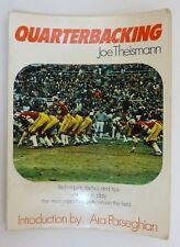 Quarterbacking by Joe Theismann 1975 Book Football Techniques Tactics Tips Play