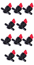 """(10) 1/4"""" Straight In-Line Gas Fuel Shut-off / Cut-off Valves Petcock Motorcycle"""