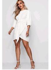 boohoo plus size kimono sleeve wrap dress UK 18