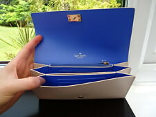 100% Authentic Kate Spade Cream and Blue PIM Arbour Hill Leather Purse Wallet