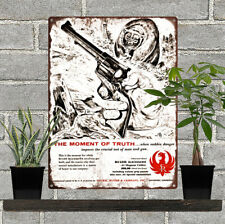 "1957 RUGER Blackhawk Revolver Howard Nostrand Bear Art Metal Sign 9x12"" 60627"