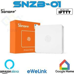 SONOFF SNZB-01 ZB ZigBee Wireless WiFi Switch Mini Pulsante dispositivi eWeLink
