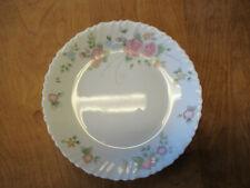 "Arcopal ROSALIE Dinner Plate 10 3/4"" Pink Floral Swirl Rim 1 ea     6 available"