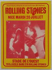 *ROLLING STONES* - small concert handbill - flyer - Nice, France - July 20, 1982